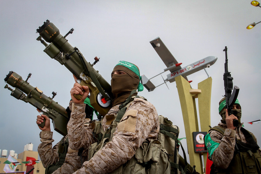 Hamas terrorists in southern Gaza on Jan. 31.