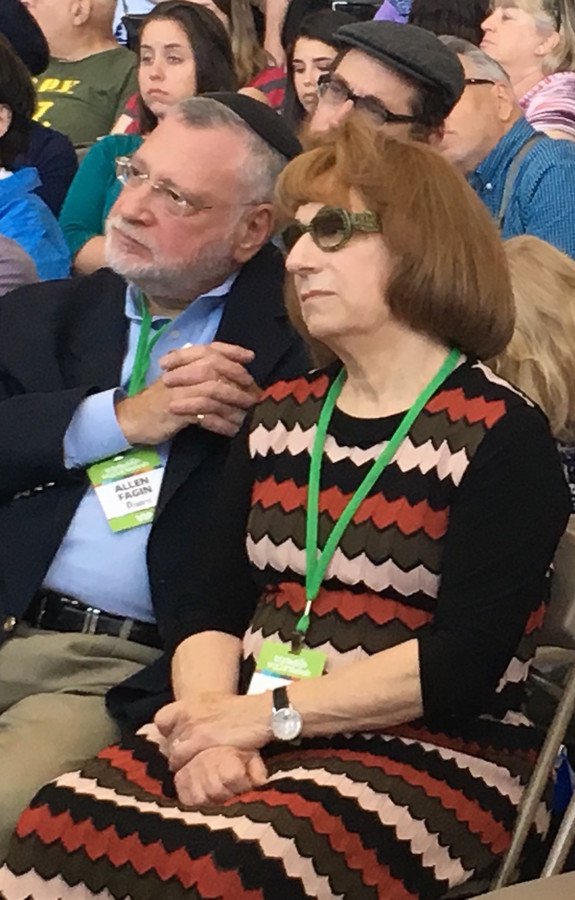 Orthodox Union Executive Vice President Allen Fagin and Judith Fagin were among Jewish leaders who accompanied the olim on NBN's magic carpet