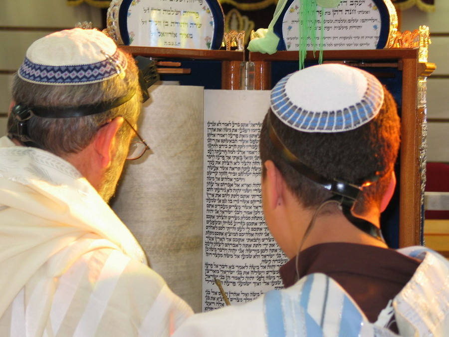 Father and son Torah reading, Sephardic-style