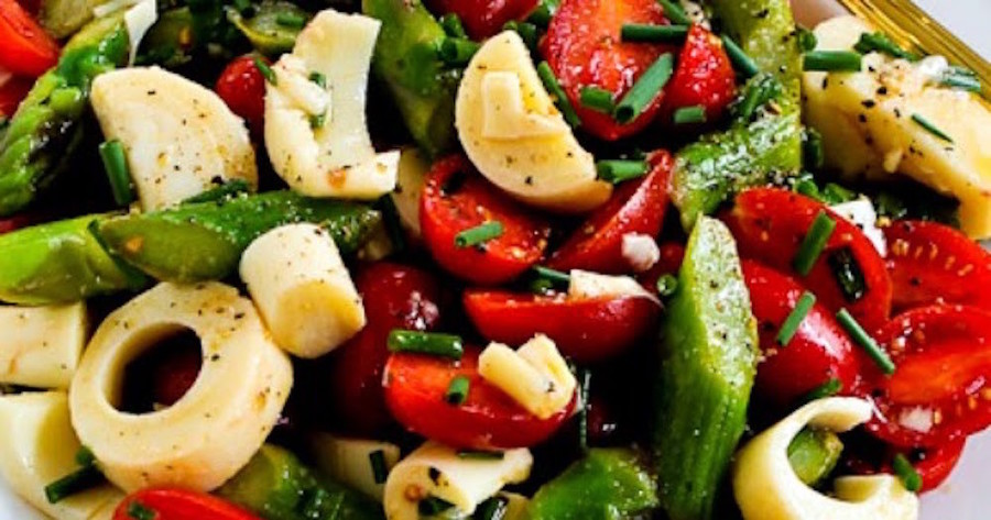 Hearts of Palm and Asparagus Salad