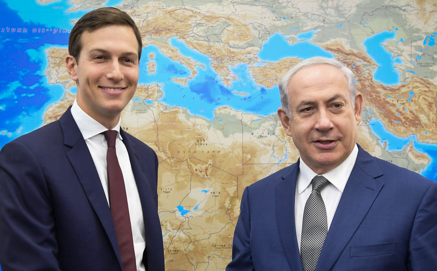 Prime Minister Netanyahu meets with Jared Kushner in Tel Aviv.