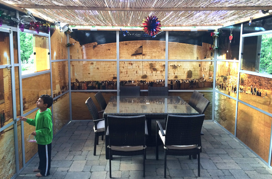 The interior view of a Panoramic Sukkah.