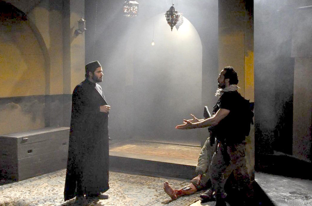 "Scene from ""The Siege,"" a play that will be hosted at the NYU Skirball Center for the Performing Arts from Oct. 12-22."