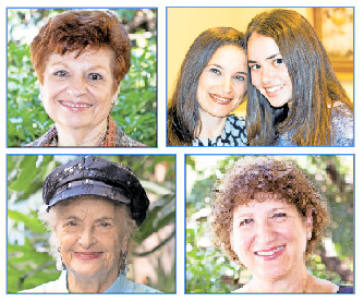 Clockwise from top left: Mona Stern, Debra and Daniella Haft,  Ilene Feldstein and Aviva Hoschander Sulzberger.