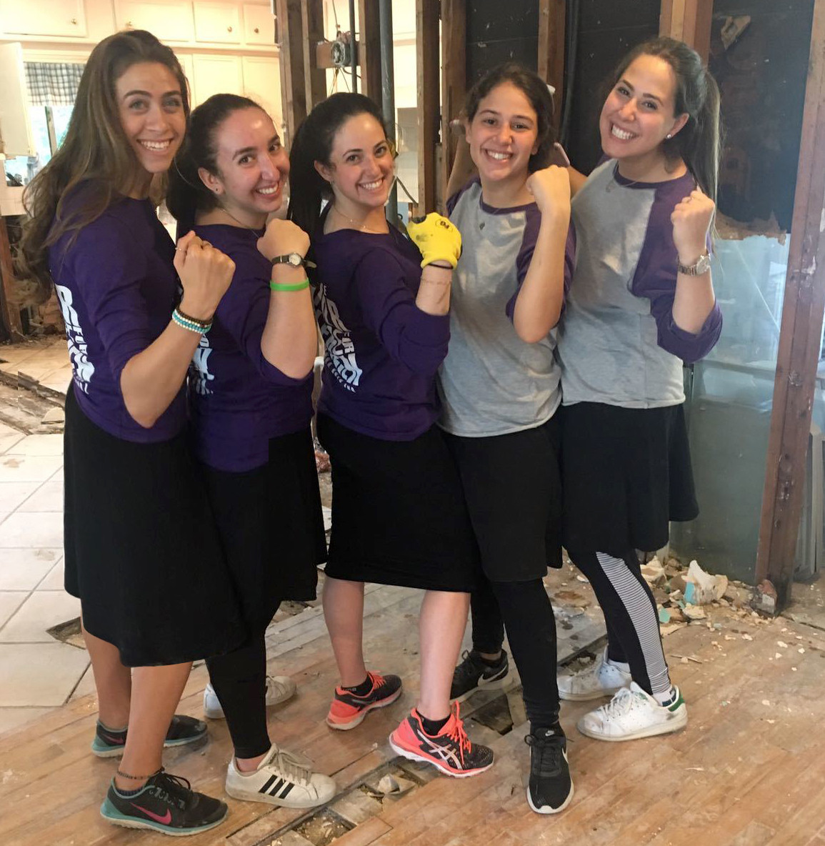 Touro women in Houston, from left: Chaviva Mandel, Hannah Levinson, Isabella Miller, Rebecca Ohayon, and Alissa Doctor.