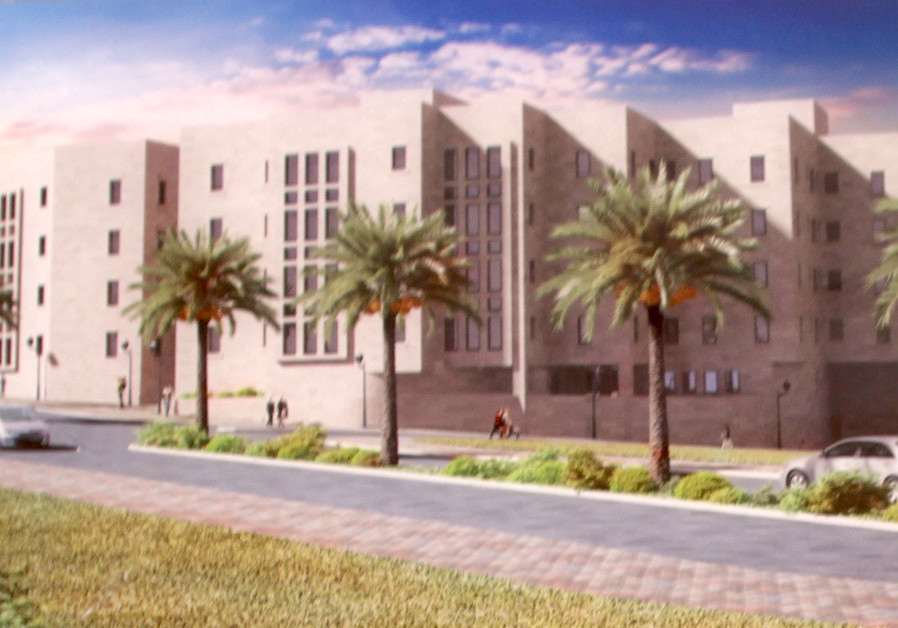 A rendering of the planned apartment complex in Hebron's Beit Romano neighborhood.