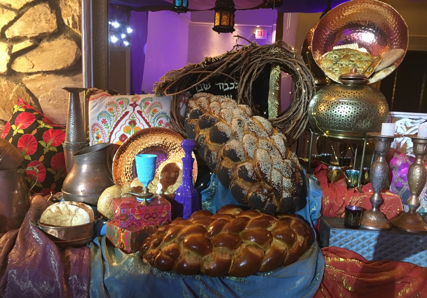 This display greeted participants in Challah Bake Long Island Style on Nov. 1.