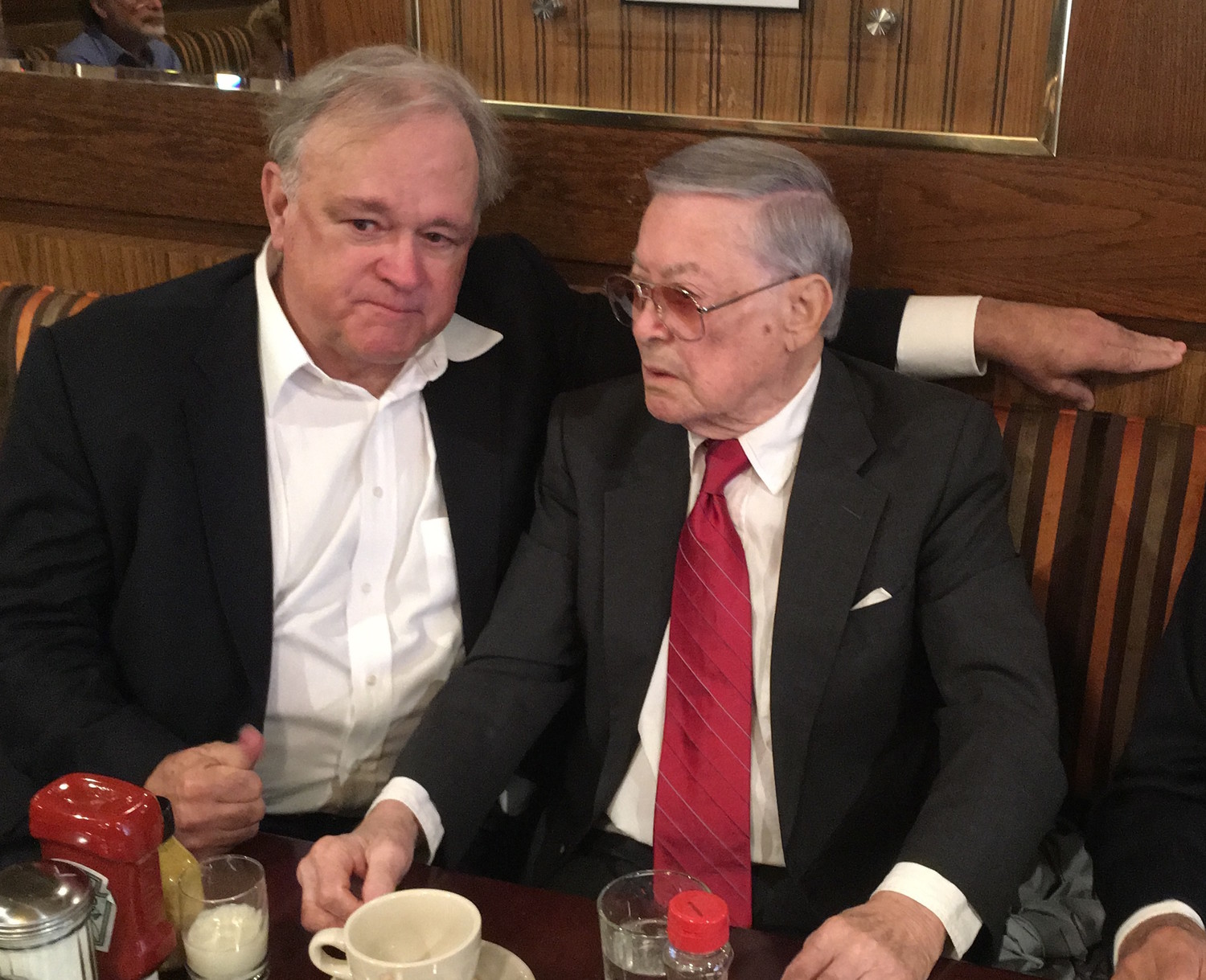 Brooklyn Eagle Publisher Dozier Hasty (left) with former Borough President Howard Golden.