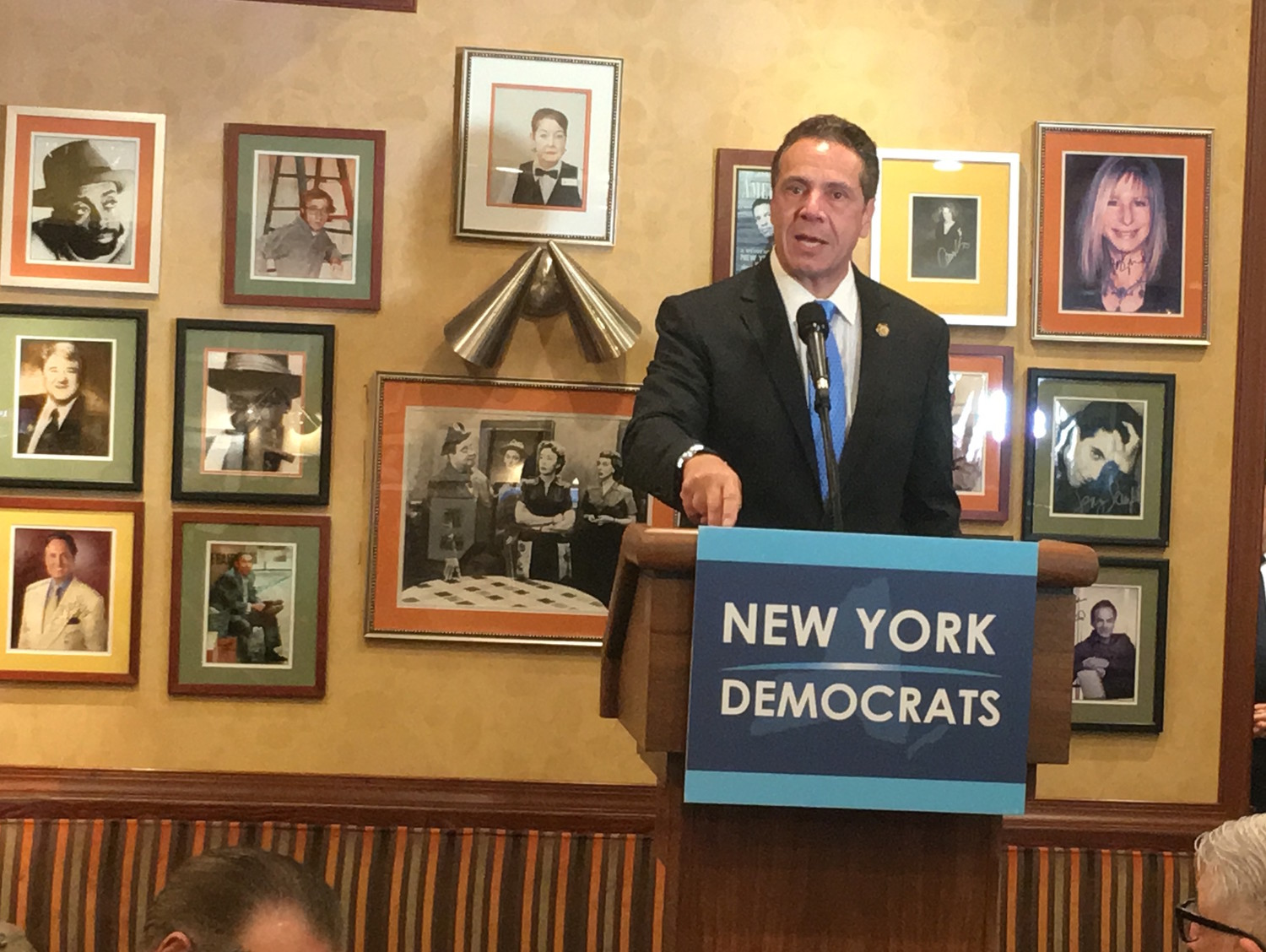Gov. Andrew Cuomo was among those who spoke at Steve Cohn's annual pre-election breakfast.