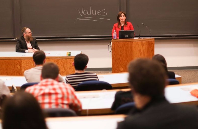 Israel's deputy foreign minister, Tzipi Hotovely, speaks to students at Princeton University on Nov. 6.