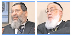 Rabbis Yaakov Bender (left) and Tzvi Flaum discussed eldercare challenges and halacha.