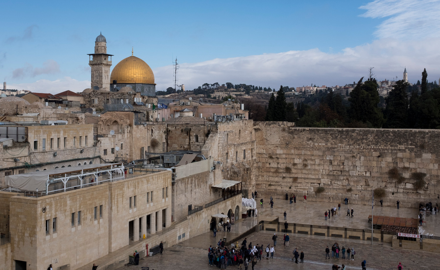 A view of the Western Wall and the Dome of the Rock on Dec. 6.