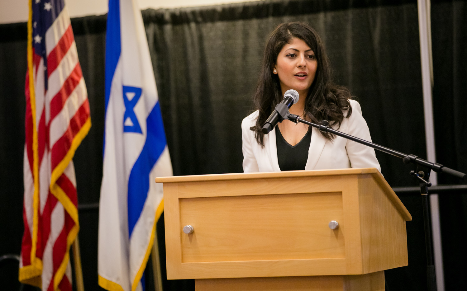 Lian Najamin at an Israeli Independence Day student gala at Boston University on April 6.
