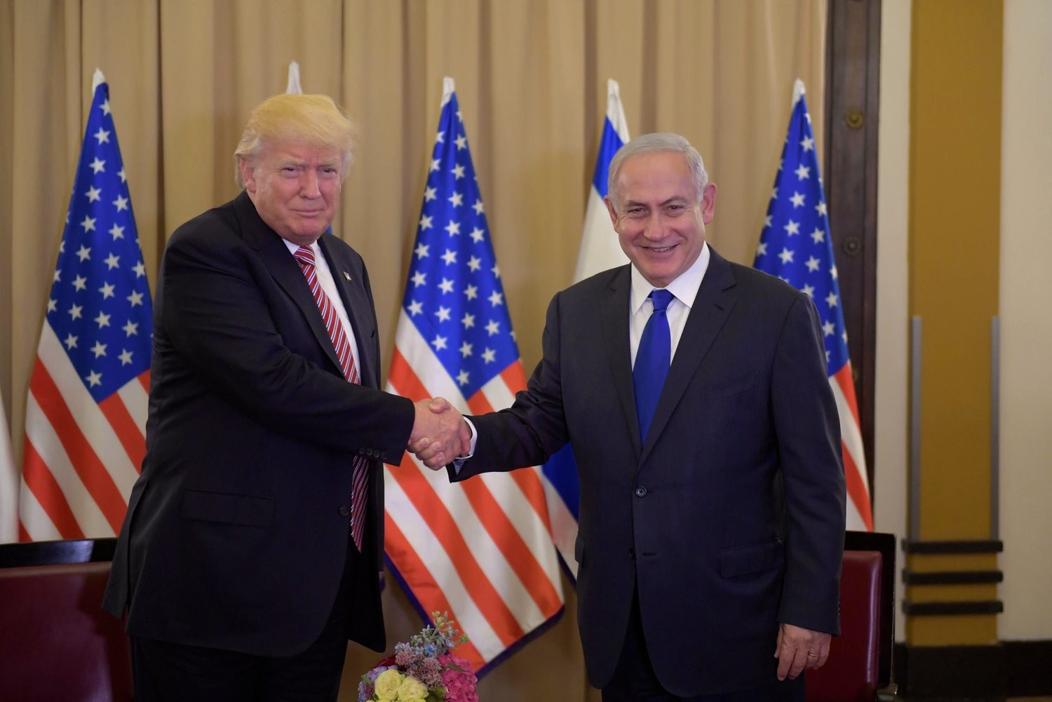 President Trump meets Prime Minister Netanyahu in Jerusalem on May 22.