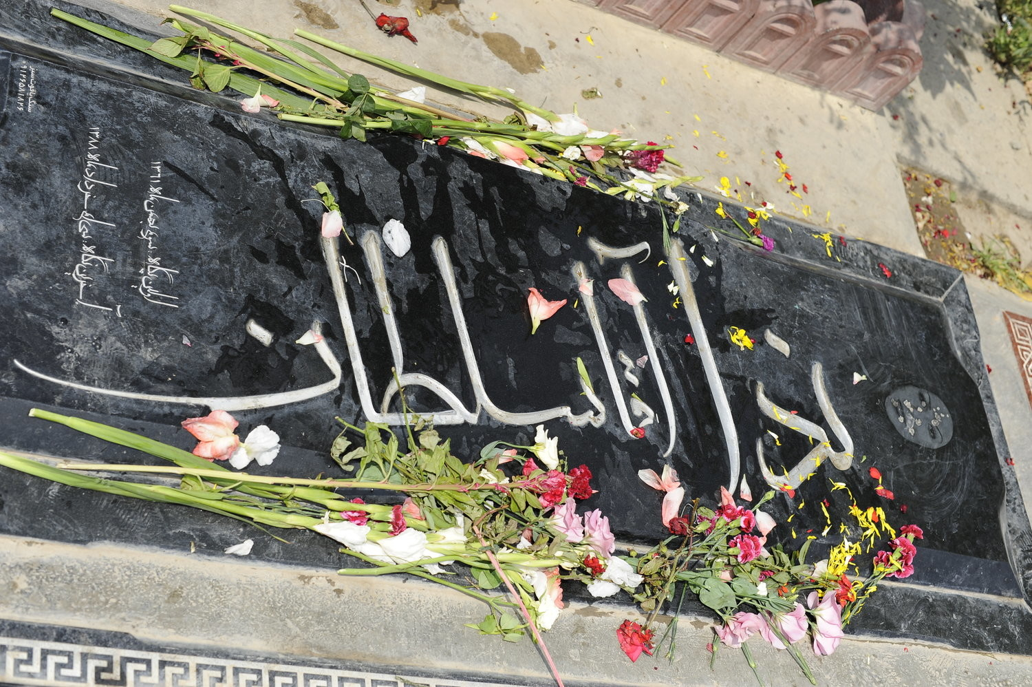 The gravesite of Neda Agha-Soltan, who was fatally shot by the Basij pro-government paramilitary group while demonstrating during 2009 anti-regime protests in Iran.