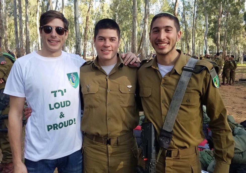 From left: Brothers Adam, Eitan and Yered Stufflebeam, who have all served as IDF lone soldiers.