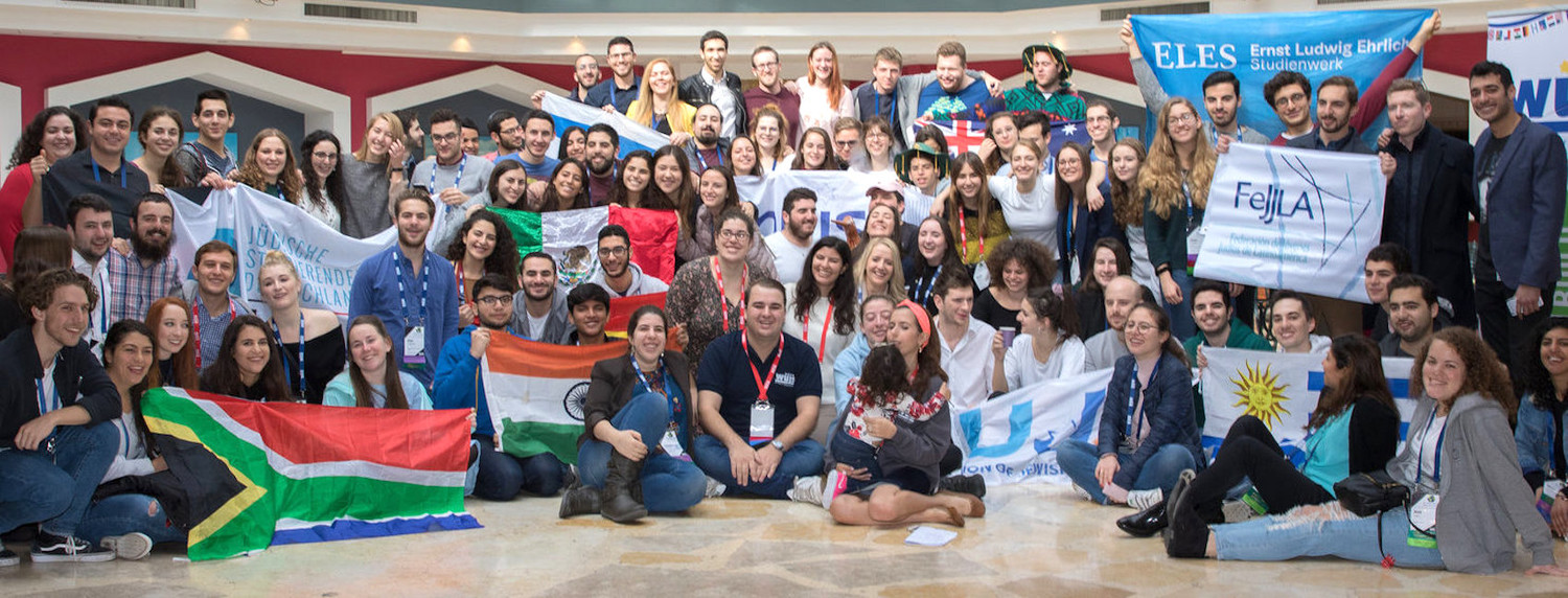 Student leaders from around the world at the 44th World Union of Jewish Students congress in Jerusalem.