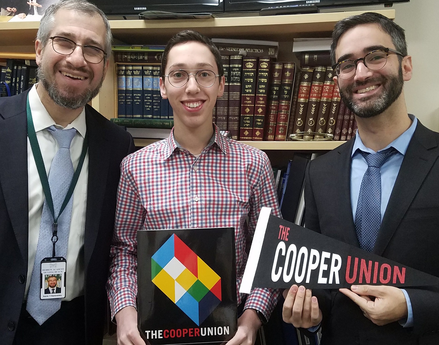 DRS senior Binyamin Klein was accepted early decision to the Cooper Union School of Engineering .