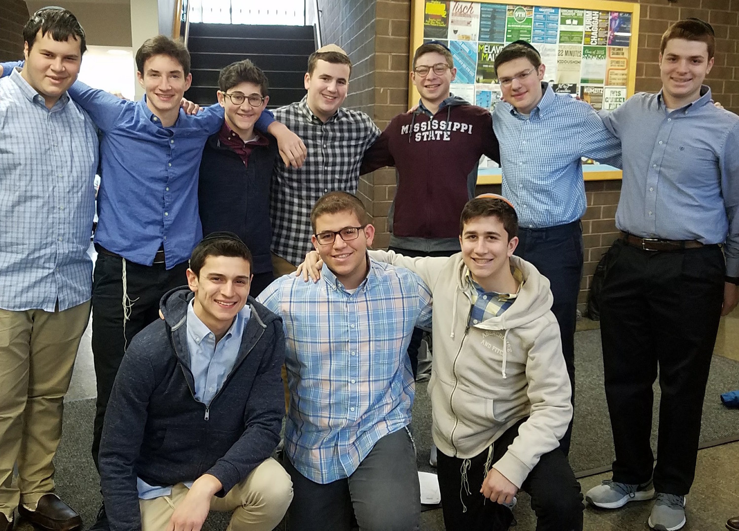 DRS students accepted into the Yeshiva University's Honors Program: Benyamin Bortz, Aaron Singer, Eitan Carrol, Uri Ash, Yosef Mehlman, Daniel Goldstein, Steven Liever, Avishai Teitelbaum, Jonah Loskove and Chezky Rothman.