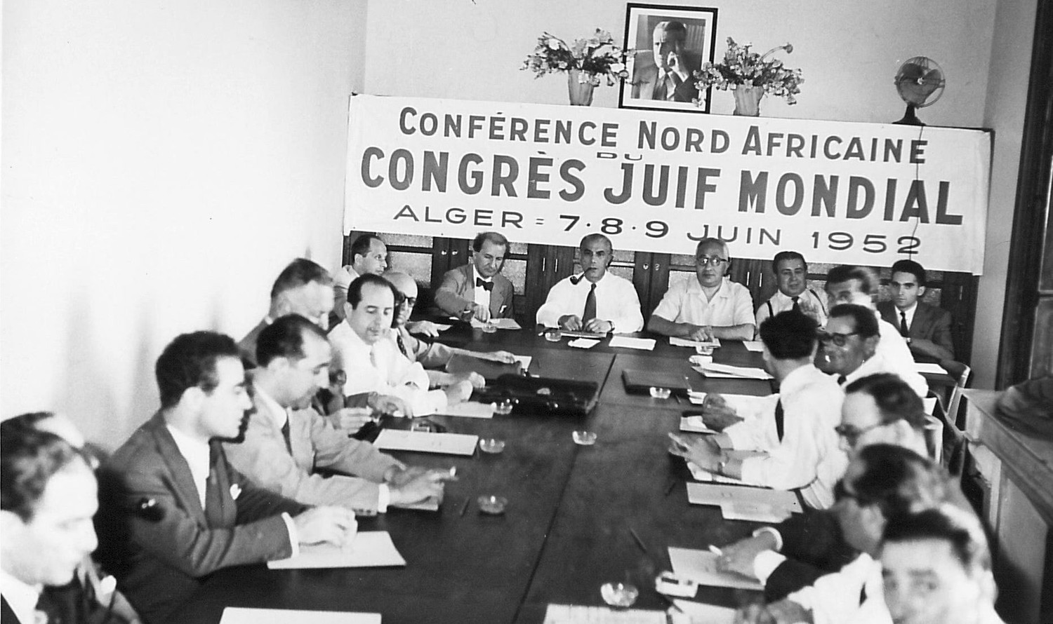 A World Jewish Congress meeting on North African Jewry in 1952.