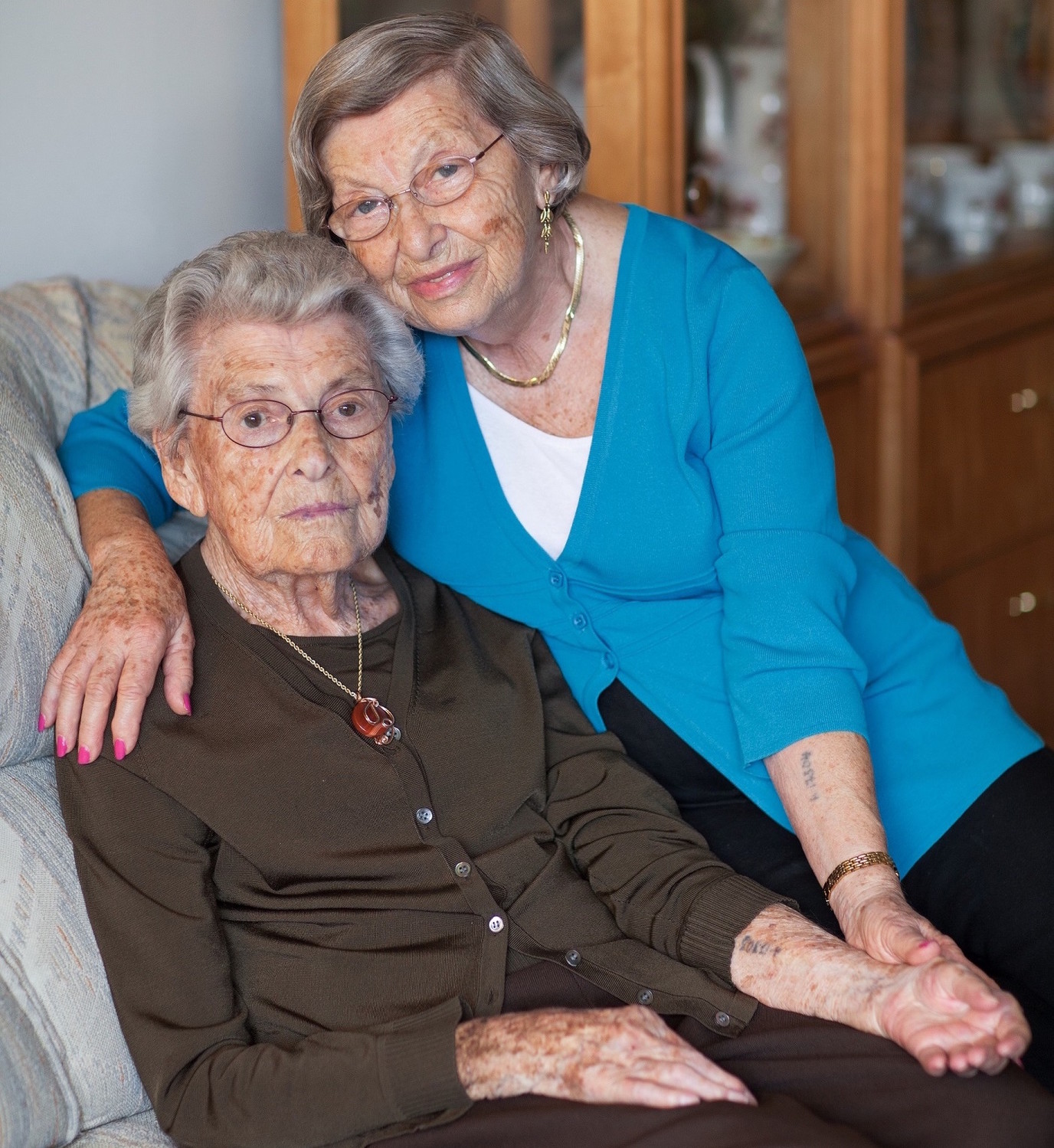 Eva Gross, 90, (right) and her mother, Ella Weiss, who died in 2011. Together, the two survived six concentration camps, including Auschwitz, forced labor and death marches.