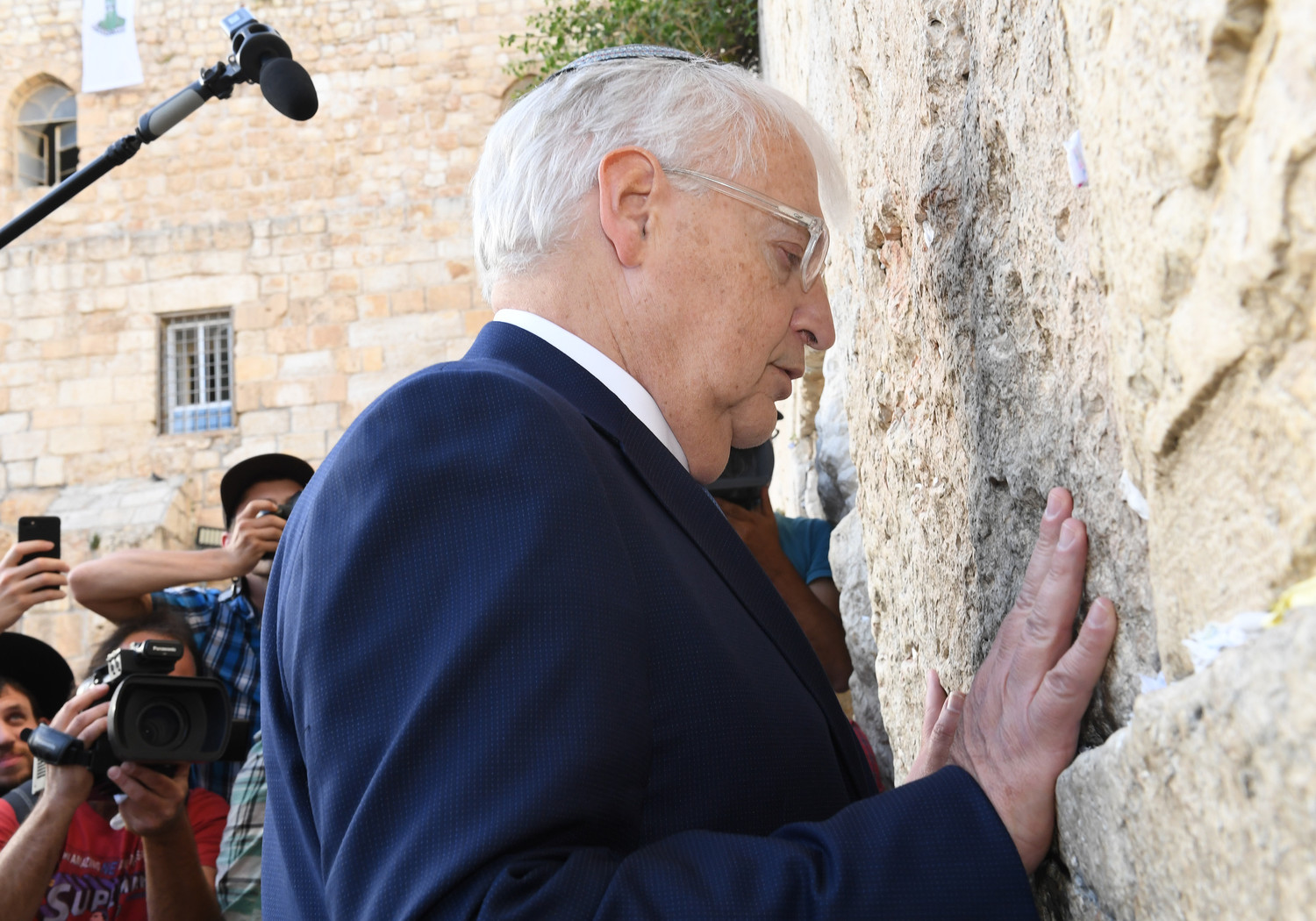 Ambassador Friedman at the Kotel on May 15, 2017