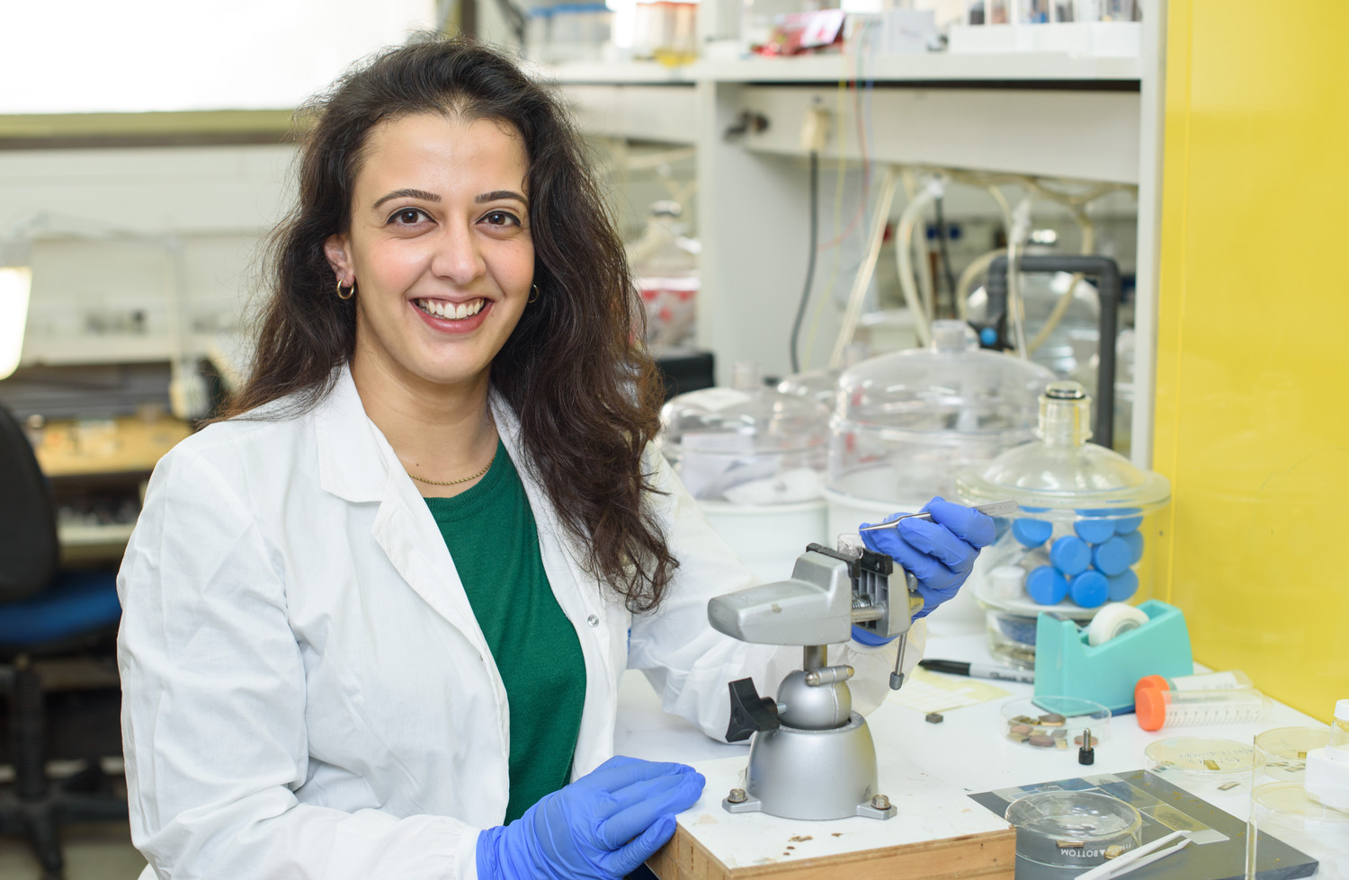 Elena Meirzadeh, pursuing a doctorate at the Weizmann Institute of Science, is studying the properties of crystals with an eye toward applications ranging from airplane wing deicing to improving cloud-seeding techniques to increase rainfall.