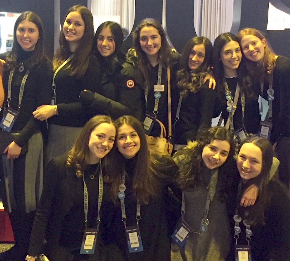 Students from HALB's Stella K. Abraham HS for Girls participated at the AIPAC Policy Conference and lobbied on Capitol Hill on Tuesday.