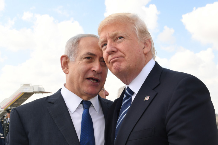 President Trump with Prime Minister Netanyahu at Ben Gurion Airport on May 23, 2017.
