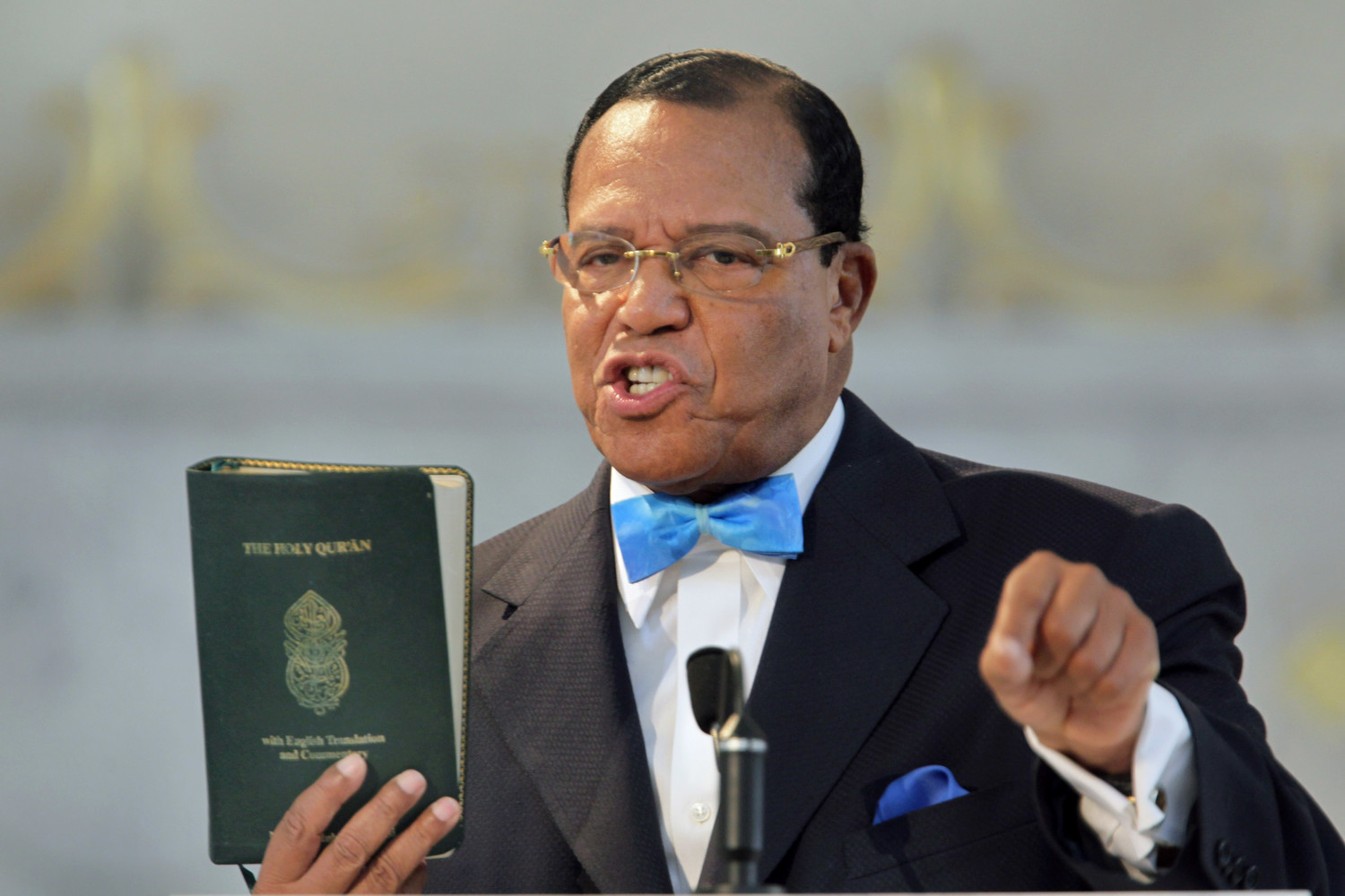 Louis Farrakhan at Mosque Maryam in Chicago on March 31, 2011.