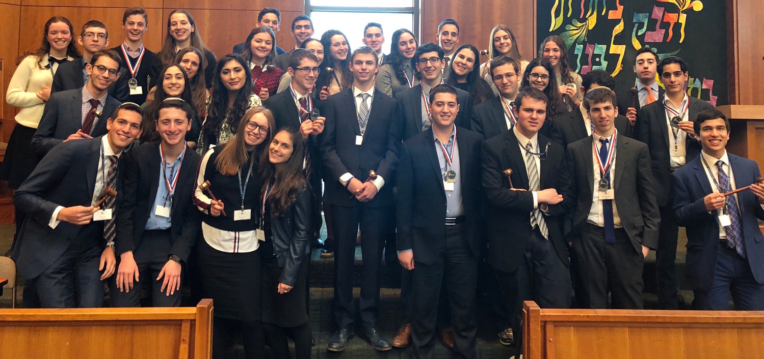 First and second place winners in the Yeshiva League Model Congress.