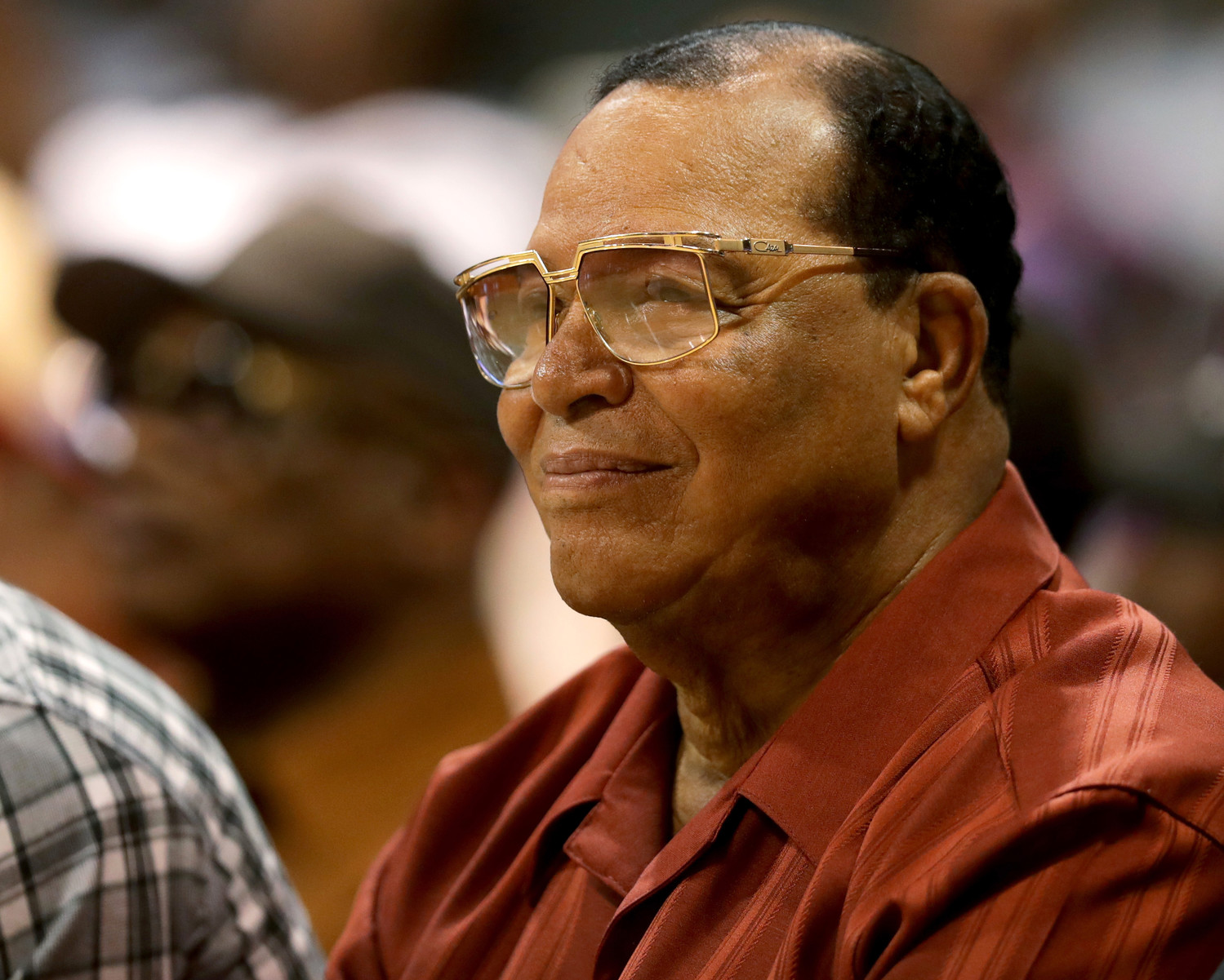 Louis Farrakhan at a basketball game in Chicago in July 2017.