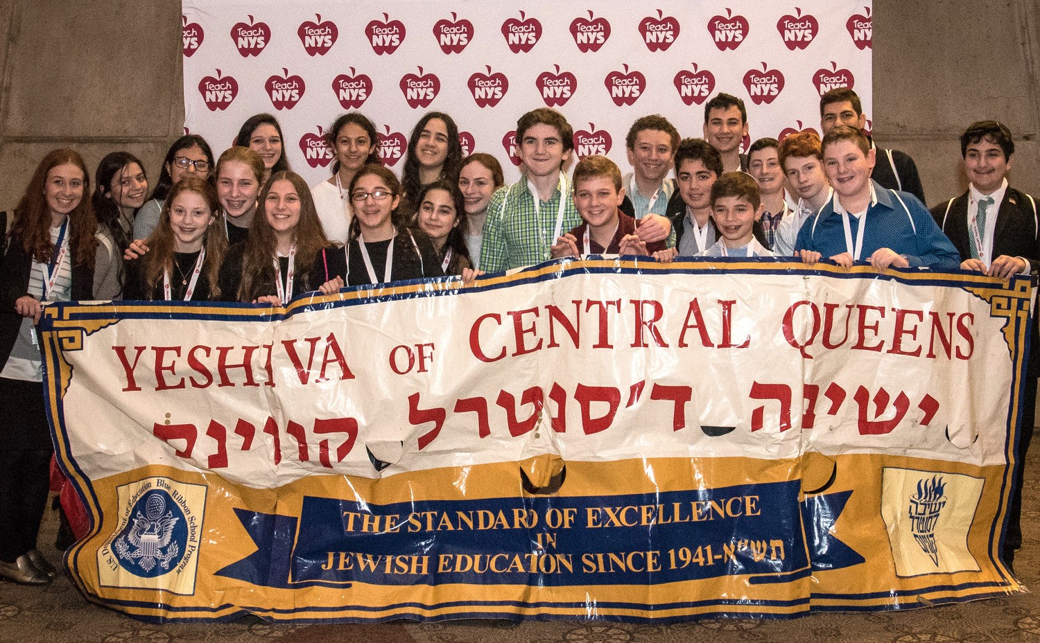 Boys and girls from the Yeshiva of Central Queens joined the OU advocacy effort.