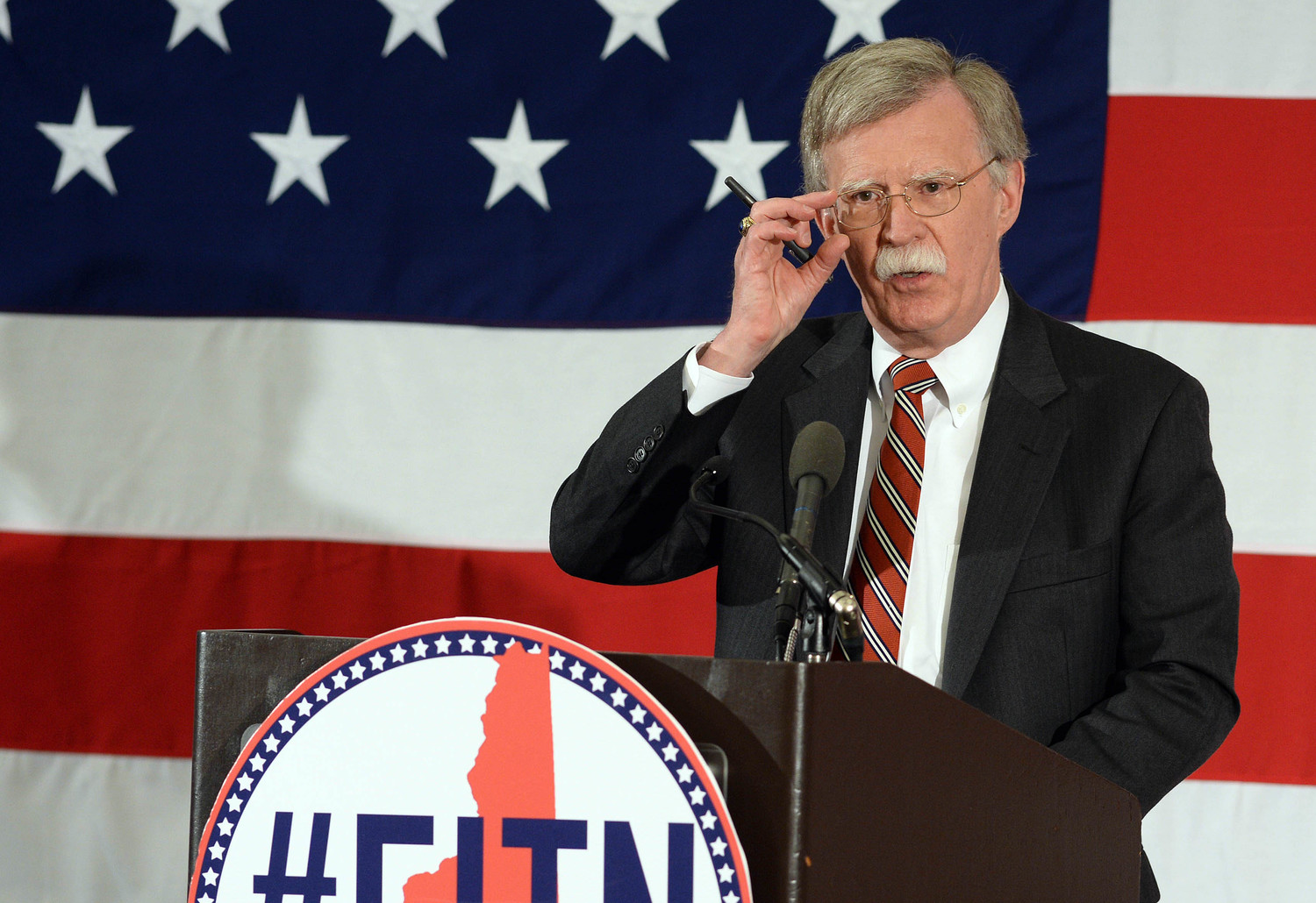 John Bolton at the National Republican Leadership Summit in Nashua, N.H., April 17, 2015.