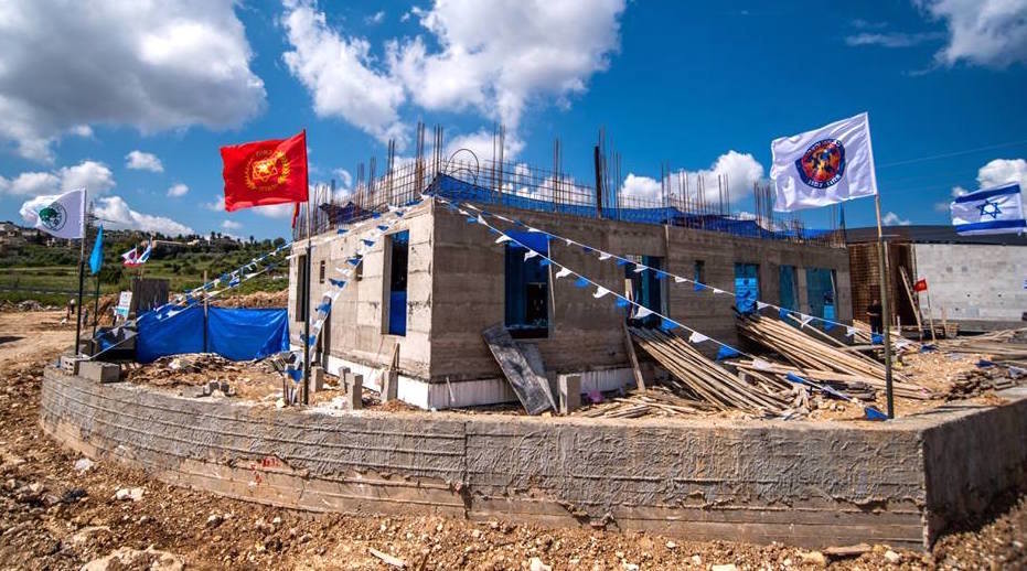 New fire station under construction in Maalot.