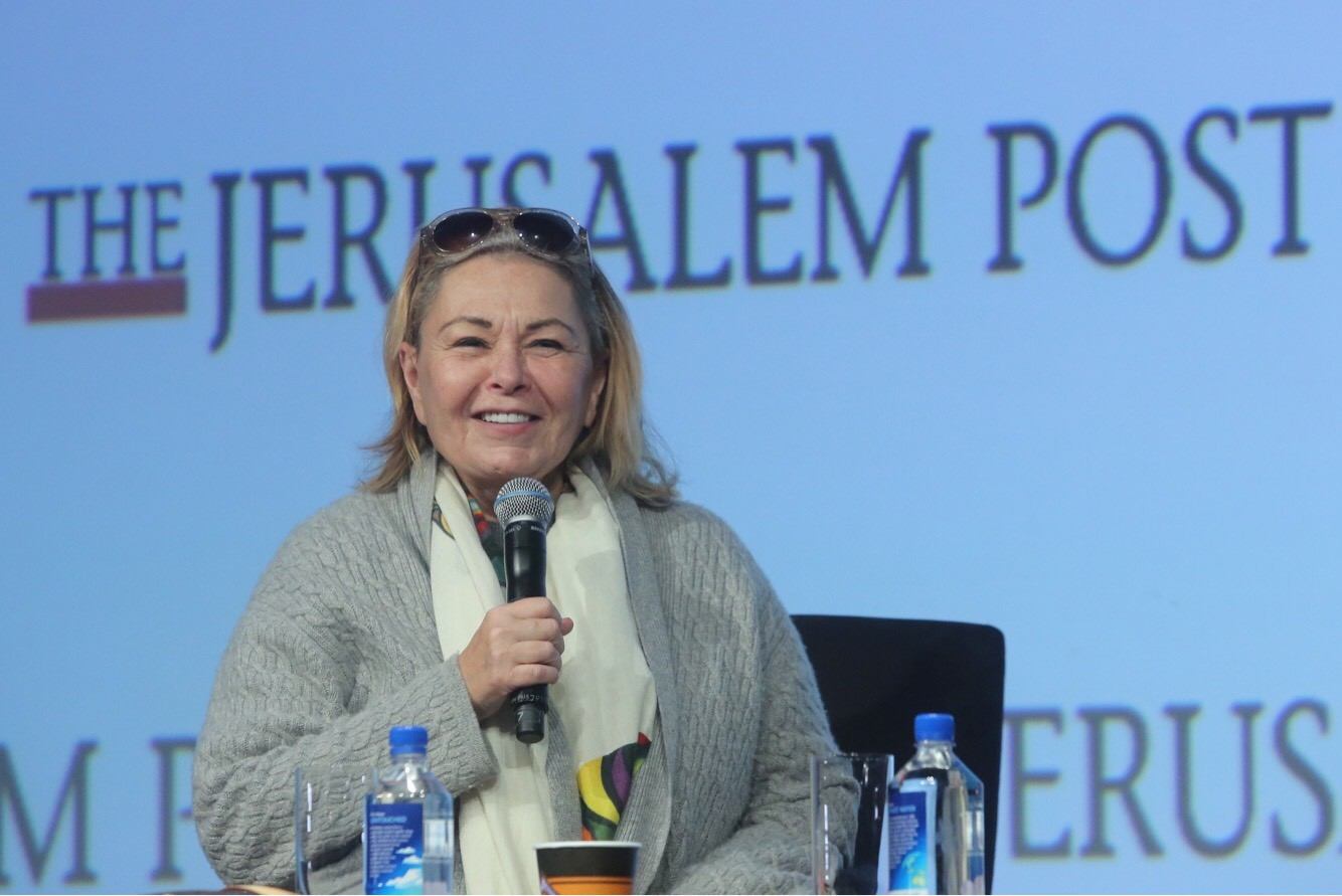 Roseanne Barr at last month's Jerusalem Post conference in New York.