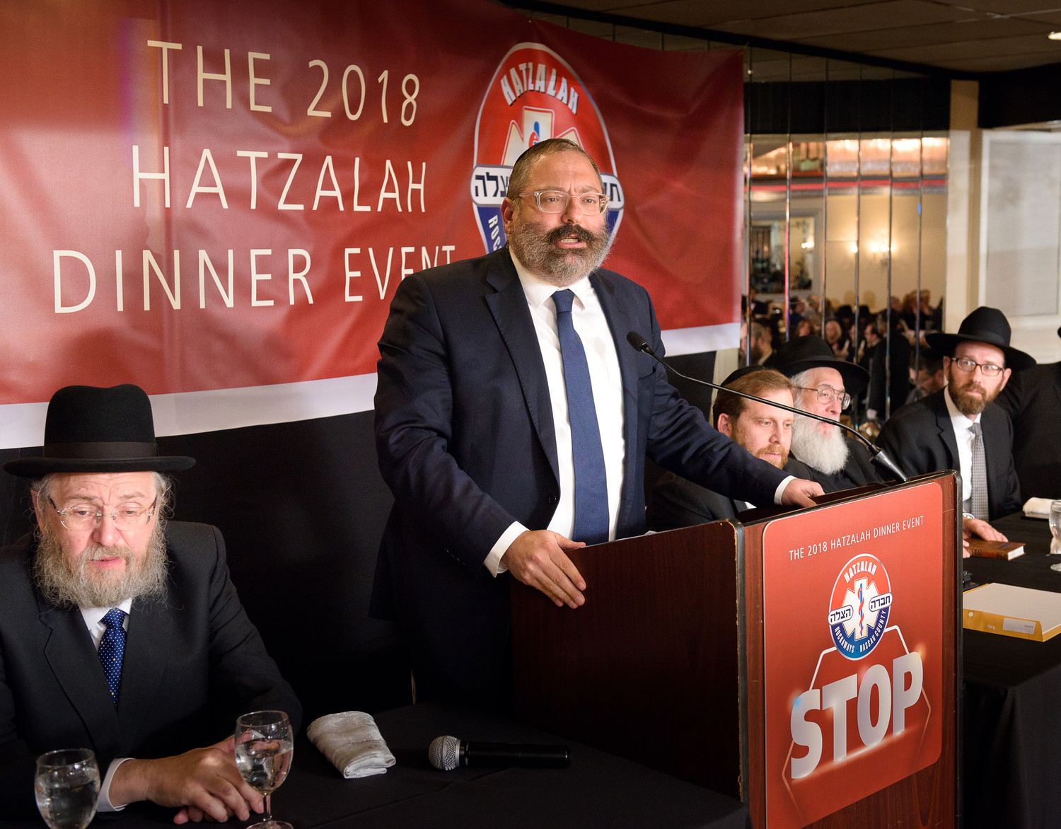 Rabbi YY Jacobson was the keynoter as supporters of Hatzalah of the Rockaways and Nassau County filled The Sands Atlantic Beach on April 29.