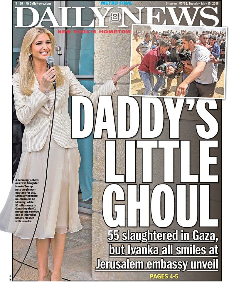 "Tuesday's Daily News cover mocked Monday's optics in Israel, but an editorial in the same edition blamed ""Hamas and its Palestinian Authority enablers"" for the tragedy in Gaza."