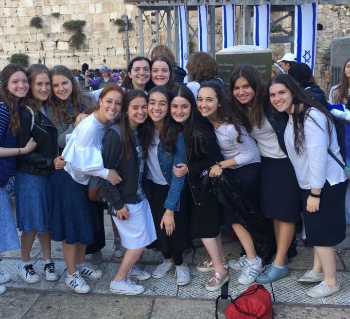 SKA alumna celebrated Yom Yershalayim at the source, posing at the Kotel.