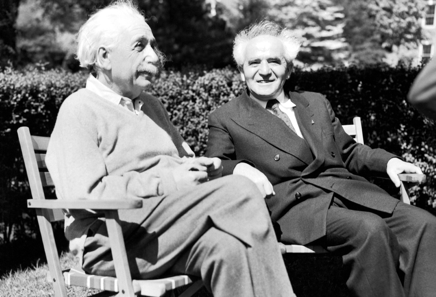 Albert Einstein and David Ben-Gurion.