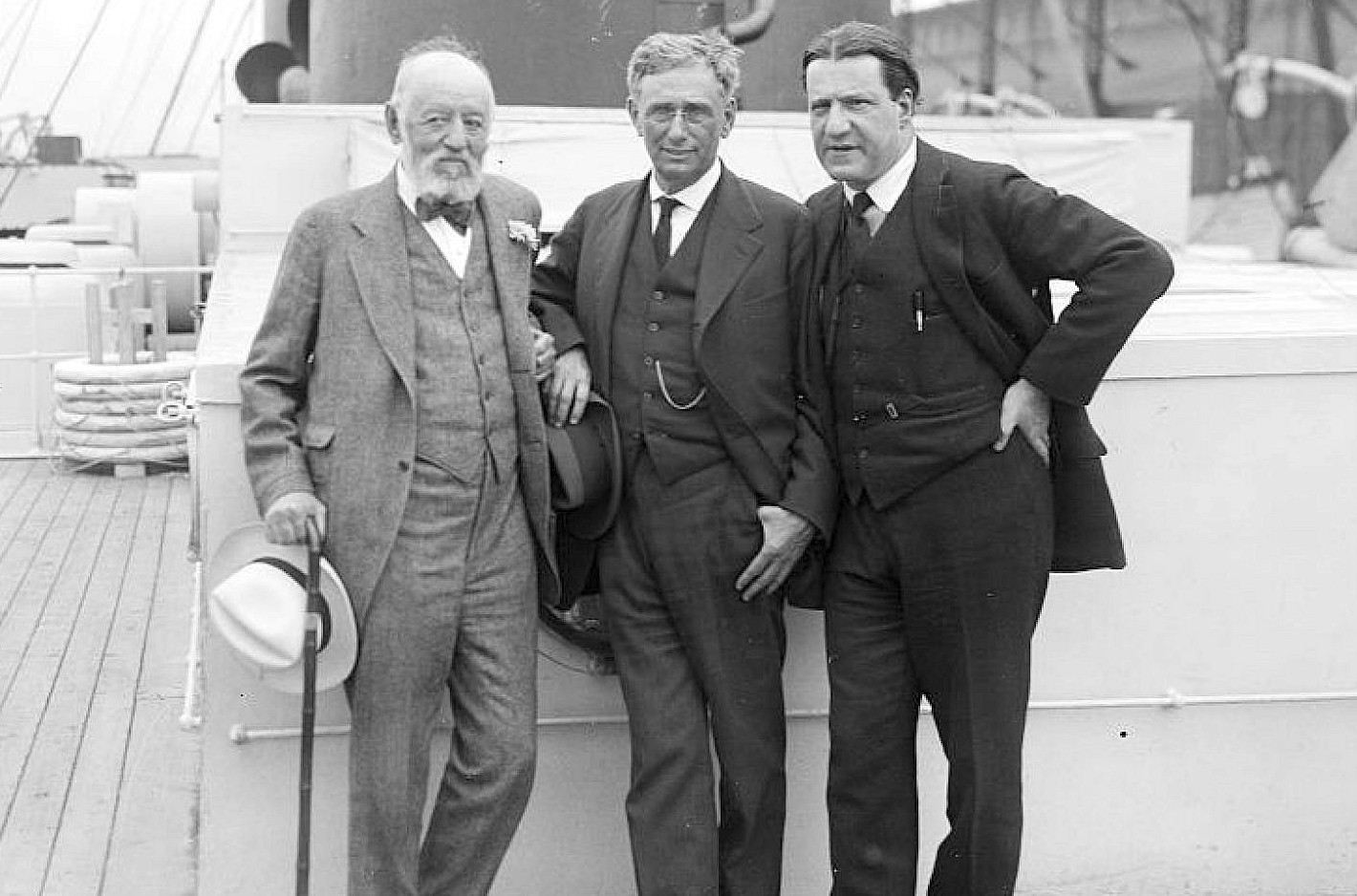 From left: Nathan Straus, Louis Dembitz Brandeis and Stephen Samuel Wise.