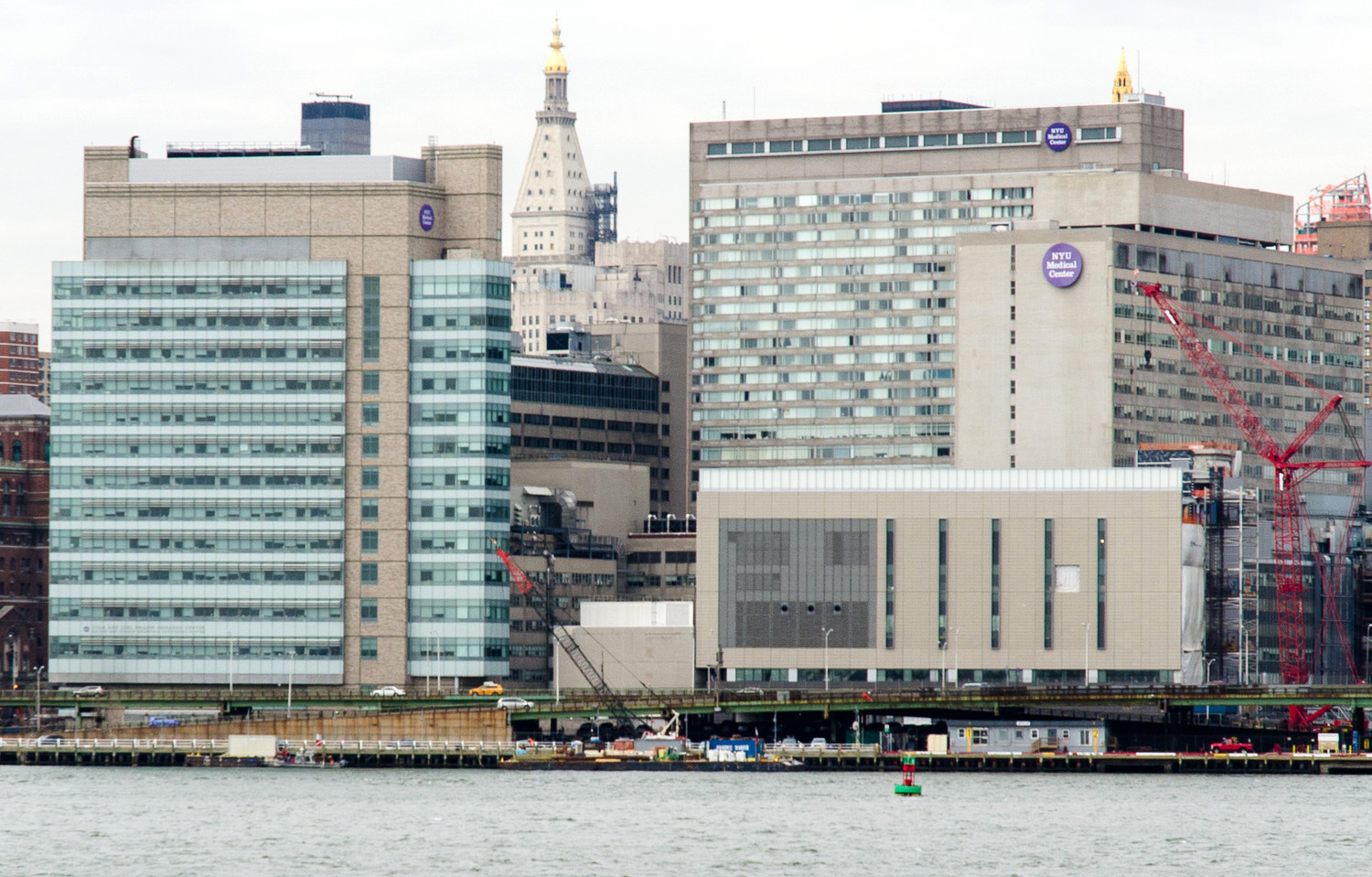 A view of the NYU Medical Center at the East River in Manhattan in 2014.