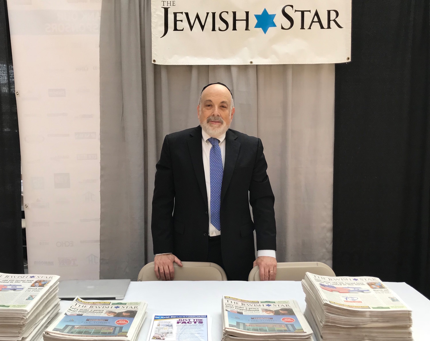 Jewish Star Publisher Ed Weintrob represented the newspaper at the Jewish business-to-business event.