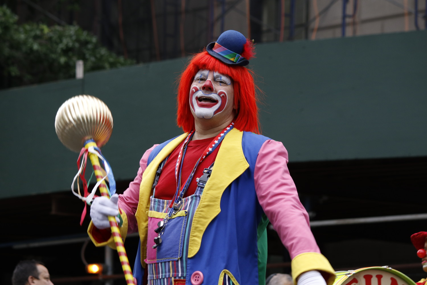 There were clowns on the Avenue, but the marchers' smiles were genuine.