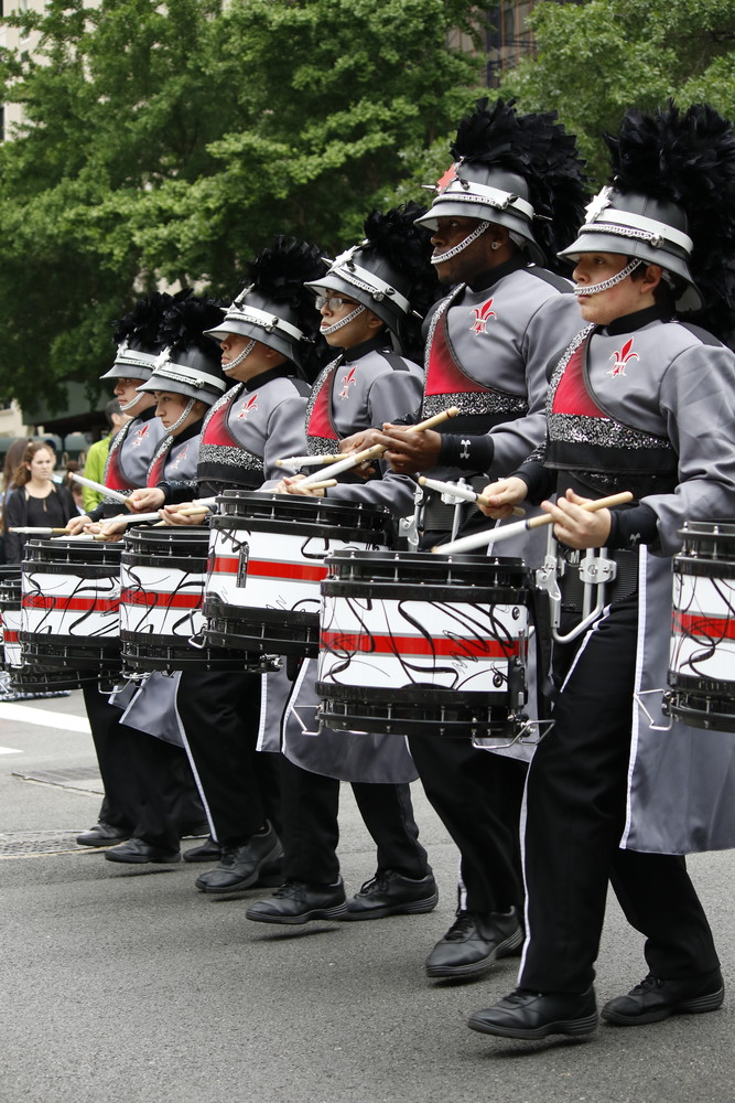 Several marching bands performed in the parade.