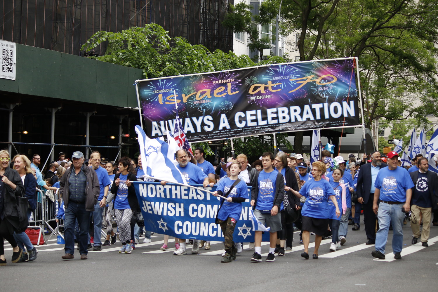 The Northeast Queens community was represented on Fifth Avenue.