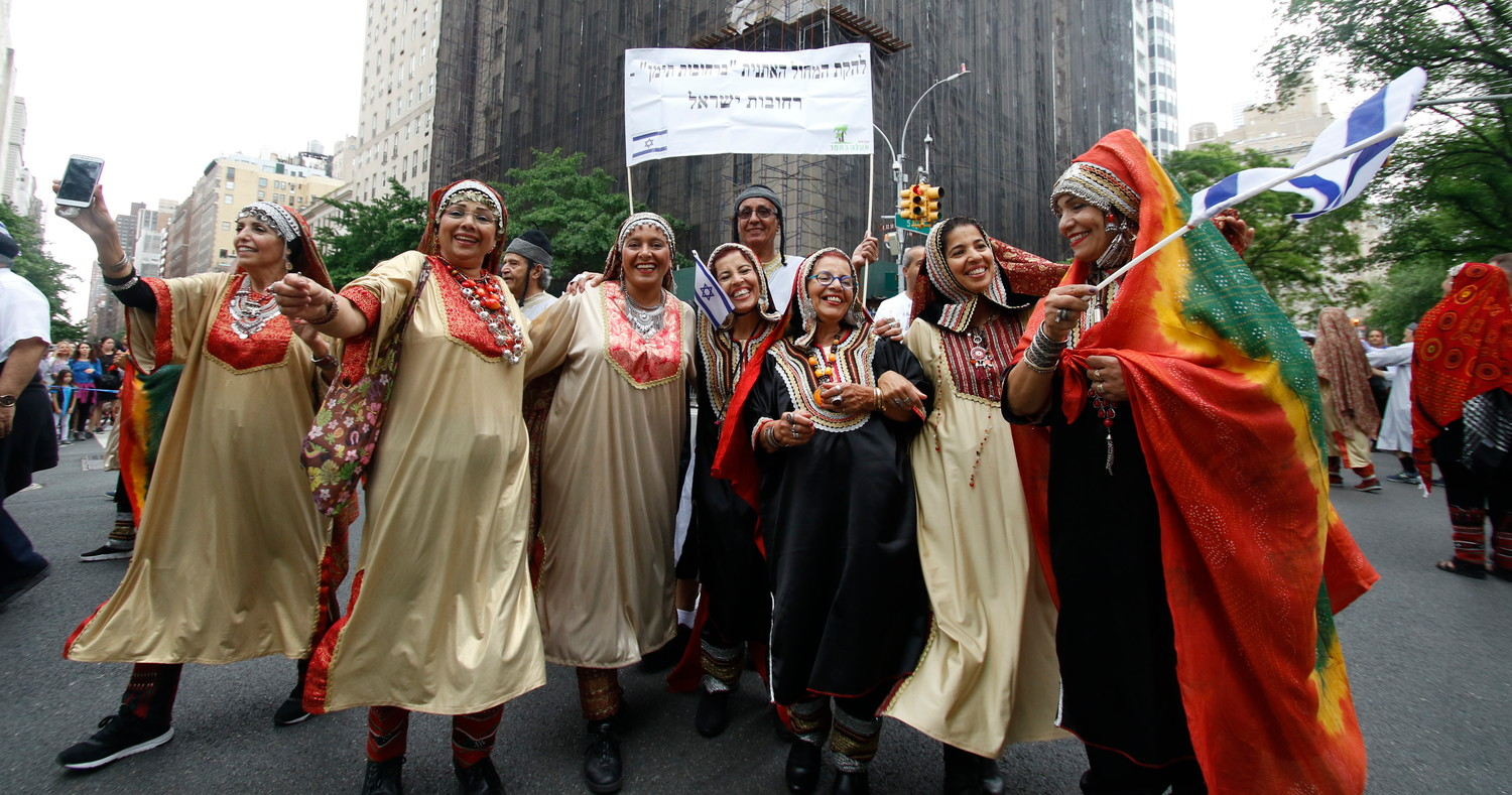 Members of the American Sephardic Federation paraded on Sunday with style and smiles.