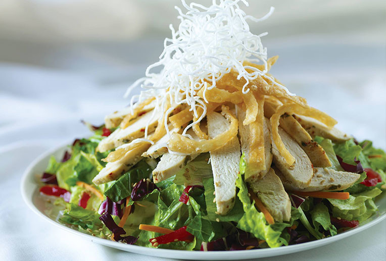 Chicken Finger Salad with Crispy Rice Noodles (Meat)