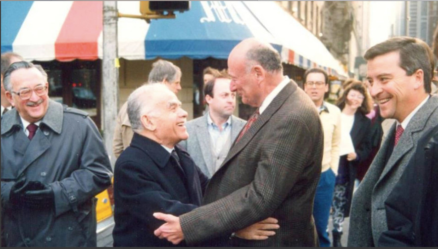 New York City Mayor Ed Koch with Israeli Prime Minister Yitzhak Shamir.