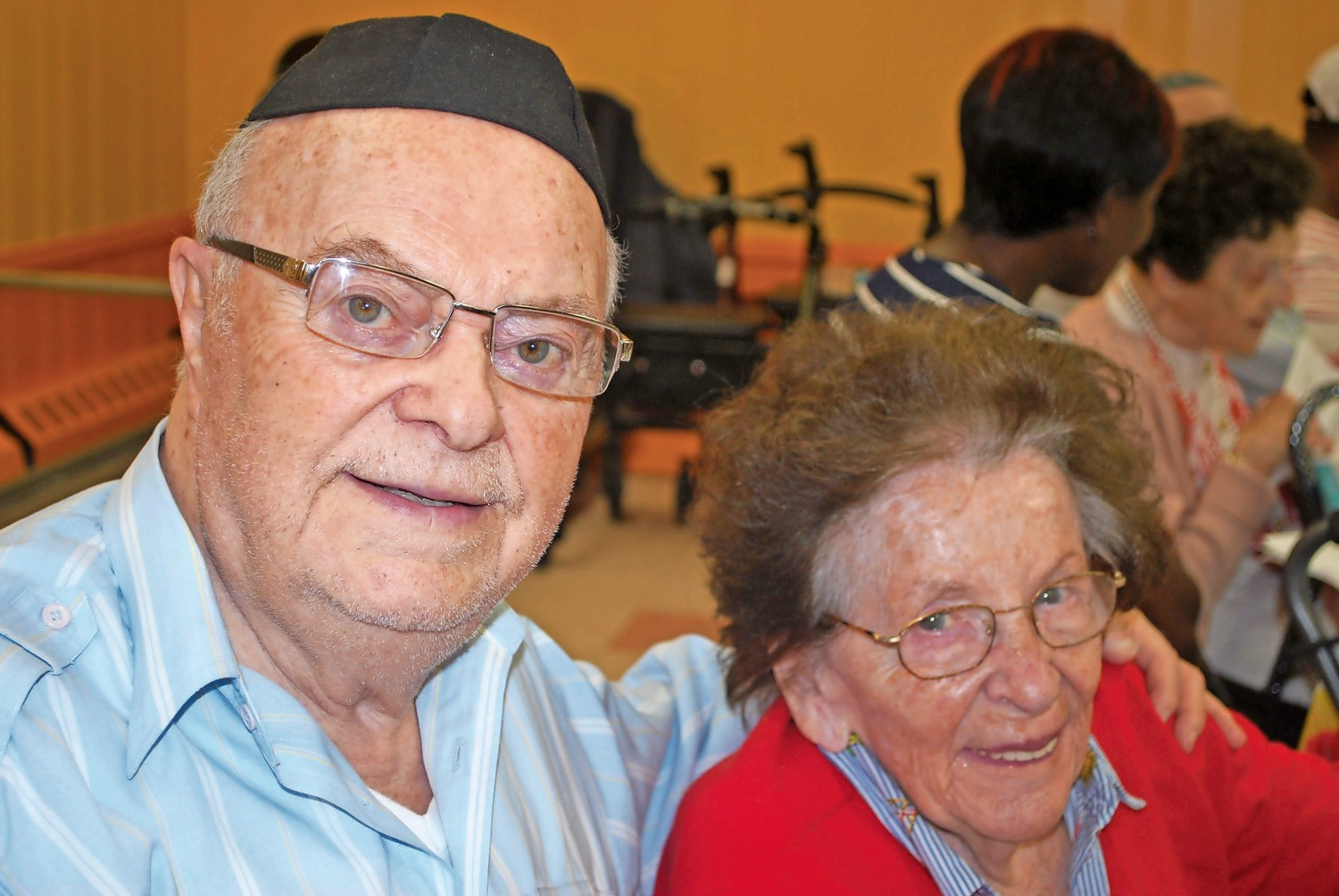 Jack and Bonnie Rybsztajn, residents of Woodmere, are Holocaust survivors who have been married for 74 years.